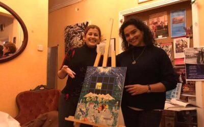Aquí con Melissa Garza Young adjudicado cuadro